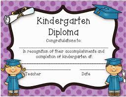 Kindergarten Graduation Diplomas Under Fontanacountryinn Com
