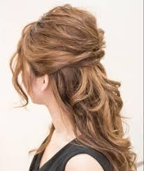 ロングヘアアレンジ簡単なアップハーフアップのやり方 人気髪型