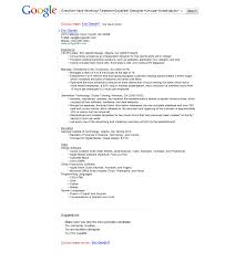 Sample Resume For Google Job Free Resume
