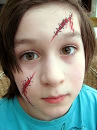 Easy Halloween Face Painting Designs Use One For A Pirate Scar Face Painting Halloween Kids