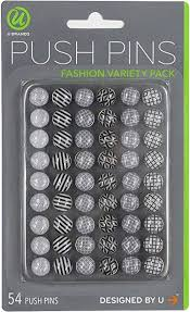 U Brands Fashion Steel Push Pins, Black White ... - Amazon.com