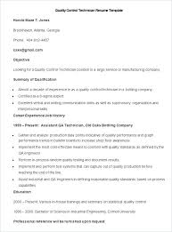 Manufacturing Resume Sample Sample Quality Control