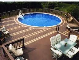 above ground round pool with deck. Architecture Sundeck Outdoor Design With Round Pool Feat Above  Decks Above Ground Round Pool With Deck D