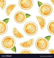 Fruit Pattern Inspiration Seamless Pattern Watercolor Fruit Orange Vector Image