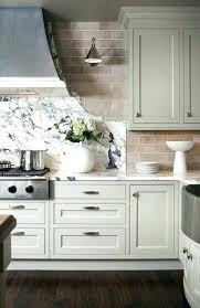 light backsplash marble slab and subway tile with light grey kitchen cabinets gray stone awesome ideas