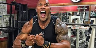 the rock biceps flexing arms workout
