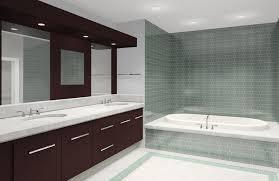 bathroom gray and white bathroom ideas wooden accent recessed lights ornate mirror frames glass panel