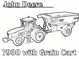 Small Picture John Deere Tractor Coloring Pages Free Free Here
