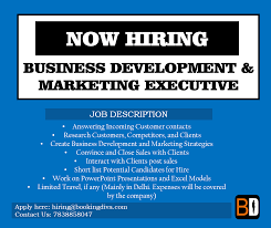 We Are Hiring! Job Role: Business Development/marketing Executive ...