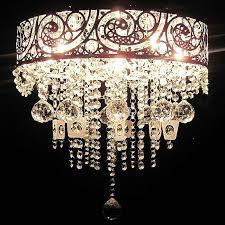 shabby chic chandelier lovely beautiful vintage crystal pendant chandelier silver 5