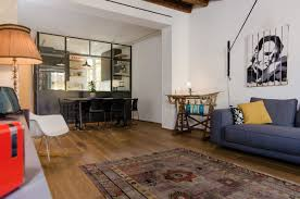 Living Room With Desk Eclectic Renovation Brings Back Memories In A Milan Apartment