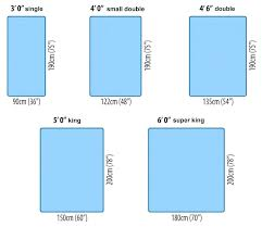 bed sizes dimensions. Standard Bed Dimensions Sizes A