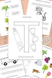 Letter T Worksheets Free Kids Printable