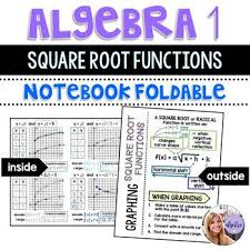 Algebra 1 Graphing Square Root Radical Functions