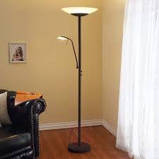 Led Staande Lamp Ragna Met Leeslamp Roestbruin Lampen24nl