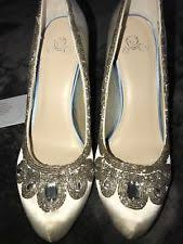 glass wedding shoes. disney glass slipper collection ivory sparkle wedding shoes heels size 10