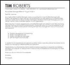 Manager Cover Letter Templates Facilities Manager Cover Letter