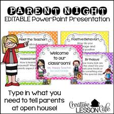 Open House Powerpoint Back To School Open House Parent Powerpoint Presentation
