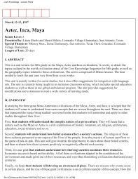 Aztec Inca Maya Core Knowledge Foundation Pages 1 46