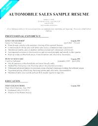 Sample Resume For Car Salesman New Used Car Salesman Resume Sample Salesperson Samples Download