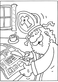 Sinterklaas Knipt Een Kortingsbon Uit Sinterklaas Kleurplaten
