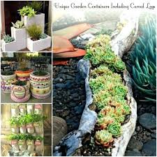 unique garden gift gardening ideas containers including carved logs creative edging cool gifts uk