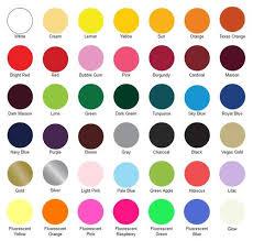 Siser Color Chart Siser Easyweed Heat Transfer Vinyl