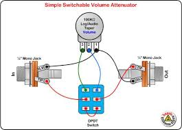 3 pin led switch wiring diagram images to wire rocker switch switchable volume attenuator wiring diagram diy pedals