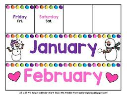 Target Pocket Chart Calendar Cards 2 5 Inches