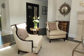 picture of two contemporary accent chairs for living room