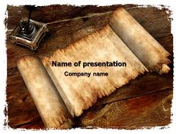 Scroll Powerpoint Template Ancient Scroll Presentation Template For Powerpoint And