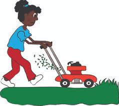 lawn mowers clip art. lawn mower clipart image black woman or girl mowing the mowers clip art