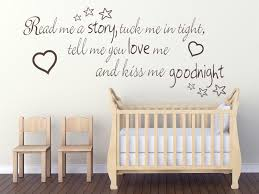 Wall Art Quotes Classy Read Me A Story Tuck Me In Tight Childs Nursery Wall Art Quote