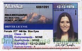 Ak - Fake Jpg Psd Drivers License Alaska