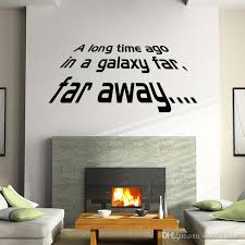 a long time ago in a galaxy far far away star wars wall decals stickers lettering wallpaper murals decor name wall stickers nursery decals from