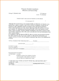 Sample Medical Release Form Template Payment Record Template Records Invoice Medical Sample 13