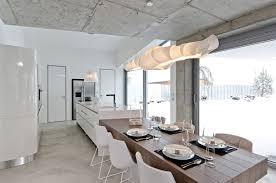 dinner table lighting. exellent lighting dining table lighting kitchen concrete interior design in osice czech  republic in dinner table lighting