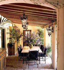 tropical style furniture. Tropical Outdoor Patio Decor Miami Tuscan Style Furniture With Traditional Pots And Planters Farmhouse Loggia Metal Decorating