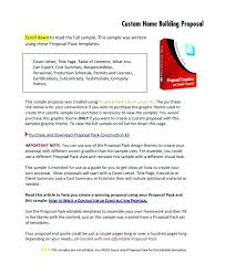 Free Construction Proposal Example Bid Form Simple Template General ...