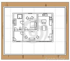 House Plan Stock Vector   Image  Drawing of a house   individual rooms such as a bathroom  toilet  bathroom  bedroom  kitchen and living room