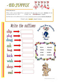 Ed Ending Worksheets Free Worksheets Library | Download and Print ...
