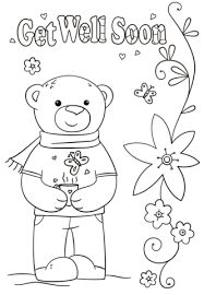 Funny Get Well Soon Coloring Page Free Printable Coloring Pages