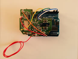 move a toy car your mind picture of the toy car circuit board connected to the arduino uno board