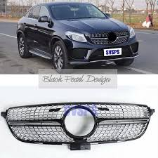 Mercedes gle coupé 53 amg vs bmw x6 m50i vs audi sq8 vs porsche cayenne turbo coupé comparison suv. High Quality Front Diamonds Star Style Grille For Mercedes Benz Gle 43 Amg 450 Coupe C292 Vehicle Car 2016 2018 Year Racing Grills Aliexpress