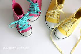 fabric shoelace diy