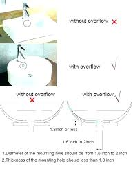 bathroom sink overflow drain pipe how to clean a hole