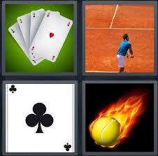 4 Pics 1 Word Answer for Cards, Tennis, Club, Fireball   Heavy.com