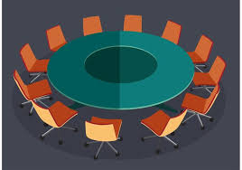 round table meeting vector