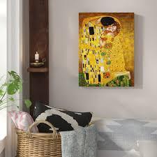 Hokku Designs <b>Classic</b> the <b>Kiss</b> by <b>Gustav Klimt</b> Painting Print on ...
