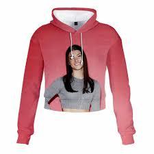 Die Hype Haus Crop Top Hoodies Charli D'Amelio Sweatshirts Frauen Drucken  Addison Rae Cropped hoodie Pullover Harajuku Trainingsanzug|Hoodies &  Sweatshirts